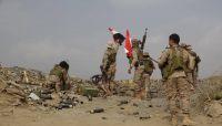 قوات الجيش تحرر مواقع جديدة شرقي تعز