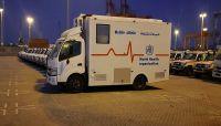 الصحة العالمية تعلن وصول سيارات إسعاف و عيادات متنقلة