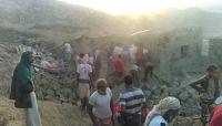 استشهاد عائلة بكاملها في قصف حوثي على تعز