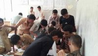 """""""الغش في الامتحانات"""" المادة المقررة للطلاب في مناطق الحوثيين"""