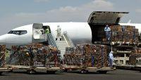 وصول طائرة إغاثة عبر مطار صنعاء وعلى متنها 14 طناً من المساعدات الطبية