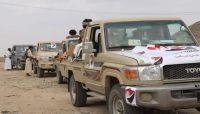 مأرب.. هيئة شعبية تسيّر قافلة غذائية لأبطال الجيش في جبهة رحبة