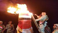 قائد المنطقة العسكرية السابعة يوقد شعلة الثورة في جبال صنعاء