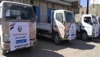 قافلة غذائية لحرائر اليمن دعماً للمقاتلين في جبهة نهم شرق صنعاء