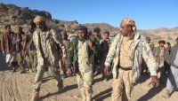 اللواء الذيباني يتفقد مواقع الجيش جنوب مأرب ويشيد بقبائل مراد