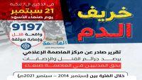 """""""خريف الدم"""".. أكثر من تسعة آلاف جريمة قتل وإصابة ارتكبتها مليشيا الحوثي بصنعاء خلال سبع سنوات (تقرير+ أنفو)"""